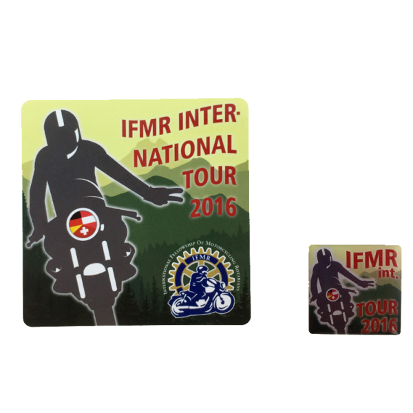 International Tour Pin with Sticker