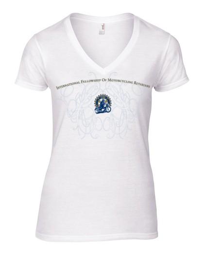 IFMR V-Ausschnitt Shirt Damen weiß