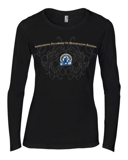 IFMR Rundhals-Ausschnitt Shirt Damen schwarz